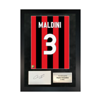 Authentic signed Framed Paolo Maldini Reds in Milan shirt Print