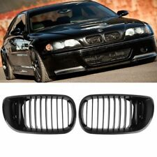 Pair Kidney Grilles Grill For BMW E46 4 door 4D 3 Series Saloon Touring facelift