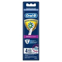 Oral-B CrossAction Electric Toothbrush Replacement Brush Heads, 4 Count