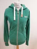 K819 MENS SUPERDRY GREEN F/ZIP DRAWSTRING HOODED SPORTS HOODIE S EU 46