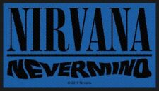 """NIRVANA - """"NEVERMIND"""" - WOVEN SEW ON PATCH - OFFICIAL - U.K.SELLER"""