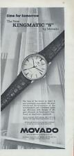 "1962 Movado Watch PRINT AD features: The New Kingmatic ""S"" 14k gold great detail"