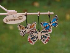 Kit Móvil Springwatch británico Mariposas Regalo en una lata de Madera Niños Artesanía Nuevo