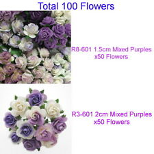 Special Pack 100 Mulberry Paper Flowers Mixed Sizes 1.5cm & 2cm R83-601