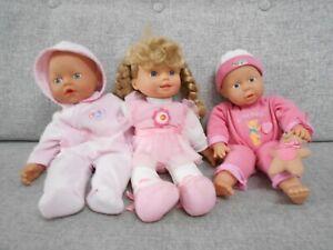 ZAPF CREATION BABY BORN DOLLS X 2 & BALLERINA DOLL