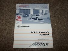 2005 Toyota Corolla Matrix Owner Owner's User Guide Manual XR XRS 1.8L 4 Cyl