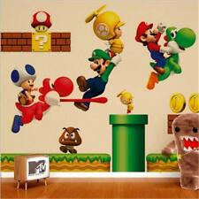 Super MARIO Wall Stickers Decals Removable Kids Boys BedRoom Nursery Art Decor J