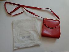 RODO Italy Red Handbag Clutch Purse Shoulder Evening Bag