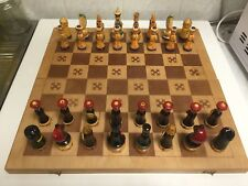 1971 Soviet Wooden Chess Set Made In The Ussr