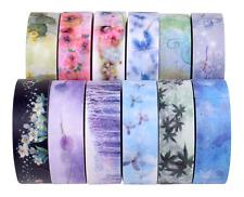 Custom Made Washi Tape Craft Washi Tapes Designed Paper Tape Set of 12 Flower
