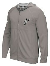 "San Antonio Spurs Adidas 2016 NBA On-Court ""Pre-Game"" Full Zip Hooded Jacket"
