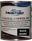Marine Coastal Copper 250 Ablative Antifouling Bottom Boat Paint Black Quart