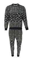Mens Embroidered TIM Panel Zip Through Hoodie /& Jogger Matching Tracksuit Sets