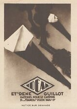 Z9253 IDEAL materiel pour le Camping -  Pubblicità d'epoca - 1932 Old advert