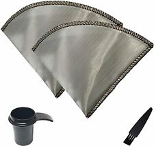 2 Reusable Pour Over Coffee Filter Flexible Stainless Steel Mesh Portable, 4 Cup