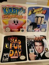 4 N64 sticker label game Nintendo Bomberman 007 James Bond Kirby Bad fur day 64