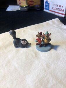 Disney Store GUS & JAQ Mice Jack & Lucifer FIGURINE Cinderella Cake TOPPER