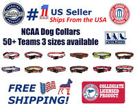 Pets First NCAA Dog Collar - Officially Licensed - Heavy Duty, Durable, 3 Sizes.