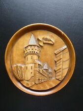 Romania Sibiu Collectible Souvenir Carved Wood Plaque Wall Hanging Decor