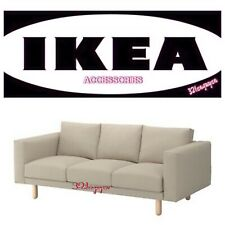 IKEA NORSBORG Slipcover Cover 3-seat sofa with Armrests, Edum beige, 103.826.02