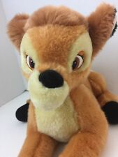 "Bambi Plush Stuffed Animal Disney Store Original Exclusive 13"" Laying Bambi"
