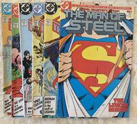 SUPERMAN: Man of Steel #1-6  DC Comics 1986  Byrne Mini Series