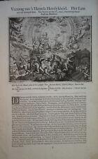 Romeyn DE HOOGHE (1645-1708) GRAVURE XVII° MYTHOLOGIE SATAN RELIGION DIABLE a