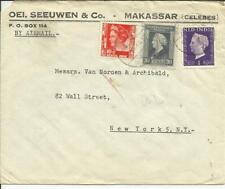 Netherlands Indies Sc#208,#259,#245 MAKASSAR 26/6/48 Airmail to USA