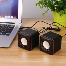 Mini Portable Square Wired USB Audio Music Player Speaker MP3 Laptop PC RY