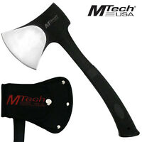 MTECH Heavy Duty SOLID Outdoor AXE Tactical Stainless Steel Hatchet w/ Sheath
