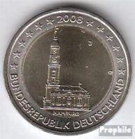 BRD (BR.Deutschland) Jägernr: 534 2008 J Stgl./unzirkuliert 2008 2 Euro Hamburge
