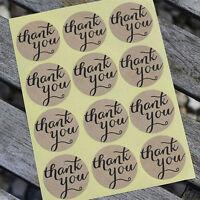 "108 Sticker ""THANK YOU"" Papier Aufkleber selbstklebende Label Kraftpapier Mode"