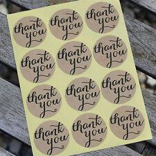 """108 Sticker """"THANK YOU"""" Papier Aufkleber selbstklebende Label Kraftpapier 2018"""
