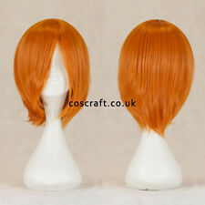 Short medium straight cosplay wig in strawberry blonde ginger, UK SELLER, Lily