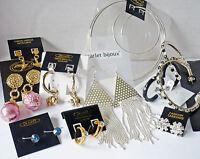 50 Paar Ohrringe, TOP MIX, Strass, gold + silber, RestPosten, Geschäftsauflösung