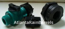 Rain Barrel Garden Hose Connection Kit fits cisterns and other containers