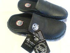 NHL OILERS LEATHER slippers S/G 8 (6) Pantoufles CUIRE LNH OILERS