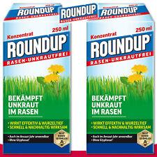 Roundup Gazon Désherbant 2 x 250 ML Concentré Ortie Chiendent Chardon Jardin