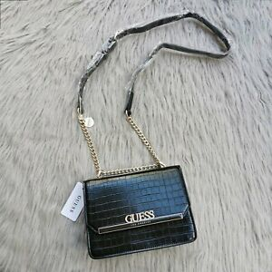 New crocodile pattern small square bag shoulder messenger metal chain flap bag