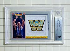 Stone Cold Steve Austin 2016 Topps Heritage WWE All-Star Patches Silver BGS 9