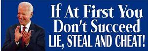 """GOP Anti Biden Lie Steal Cheat Political Bumper Sticker 8.7""""x3"""" Joe Biden Decal"""