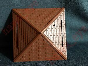 Plasticville Switch Tower Brown Roof O-S-Scale