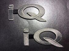 "Lot Of 2 Scion iQ High-Quality Embroidered Toyota Patch IQ iq 3.25"" X 1.75"""