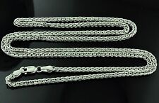 4.90 grams 14k solid white gold foxtail wheat chain necklace 24  inches #4293