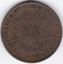 More details for 1850 portugal maria ii 20 reis | pennies2pounds