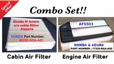 Combo Set For 03-07 Honda ACCORD 2.4L & 04-08 Acura TSX Engine&Cabin Air Filter