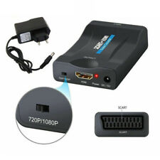 2020 NEW SCART To HDMI Video Audio Upscale Converter Adapter HD TV DVD Sky Box==
