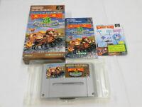 W6373 Nintendo Super Famicom Donkey Kong 3 Japan SFC SNES w/box