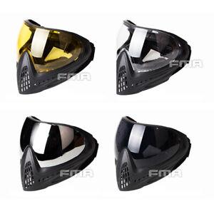 FMA Airsoft Mask F1 Full Face Mask Single Layer Paintball Mask Anti-fog Goggle