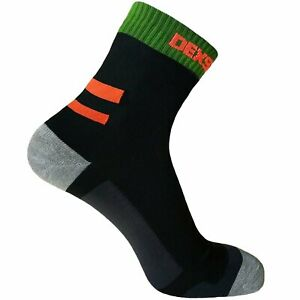 Dexshell Running Waterproof Socks Black/Blaze Orange